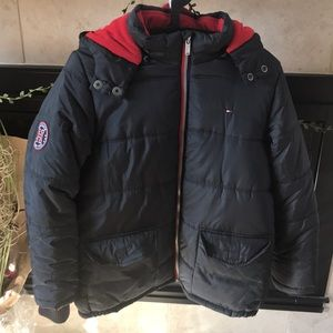 Tommy Hilfiger Puffy Hooded Winter Jacket.